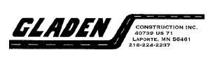 Gladen Construction Inc logo