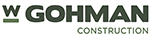 W Gohman Construction Co logo